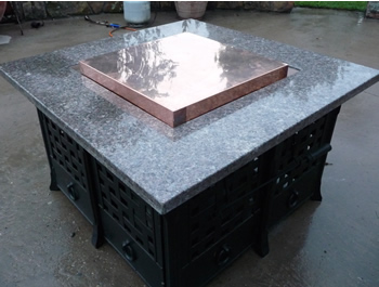The Copper Fire Pit Table Cover