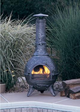 Leaf Chiminea Cast Iron On Sale Free Delivery