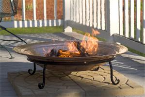 fire pit, pinion wood