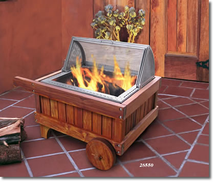 The Teak Fire Pit - Teak fire pit table