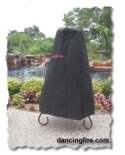 chiminea cover, pinion wood