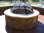 fire pit screen, fire pit top, fire pit cover, custom fire pit screen