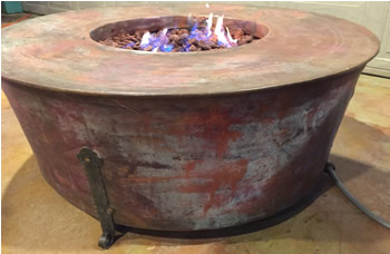 Hand crafted heavy Copper Gas Fire Pit