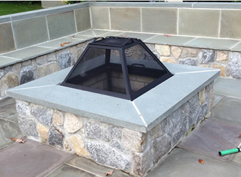 Square fire pit safety Screen