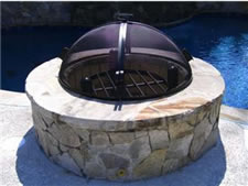 Fire pit safety screens