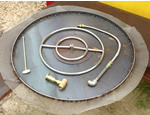 match lit fire pit kit expando pan